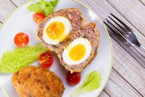 British picnic Scotch eggs