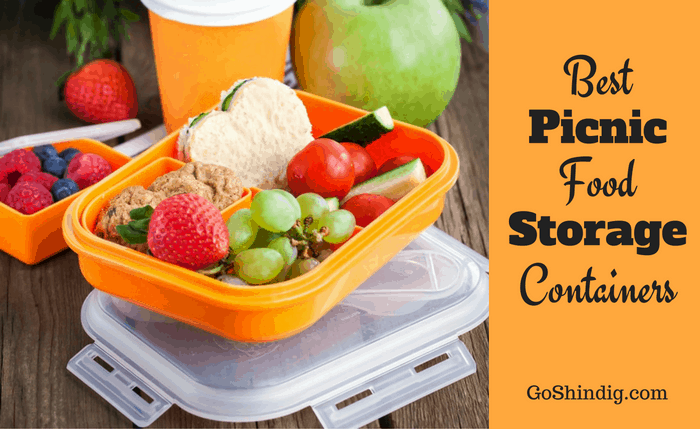 Picnic food storage containers