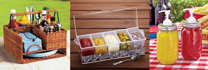 Picnic condiment set