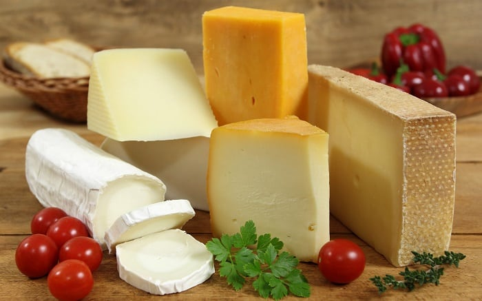 Types of cheese for a picnic