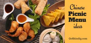 Chinese picnic menu ideas