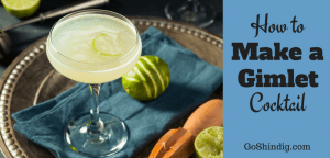 Gimlet cocktail drink