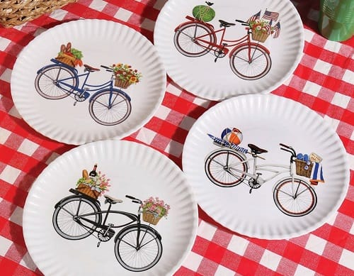 Melamine Picnic Plates  sc 1 st  Outdoor Entertaining - Picnics BBQ and Cocktails & Best Picnic Plates - Disposable Plastic and Melamine