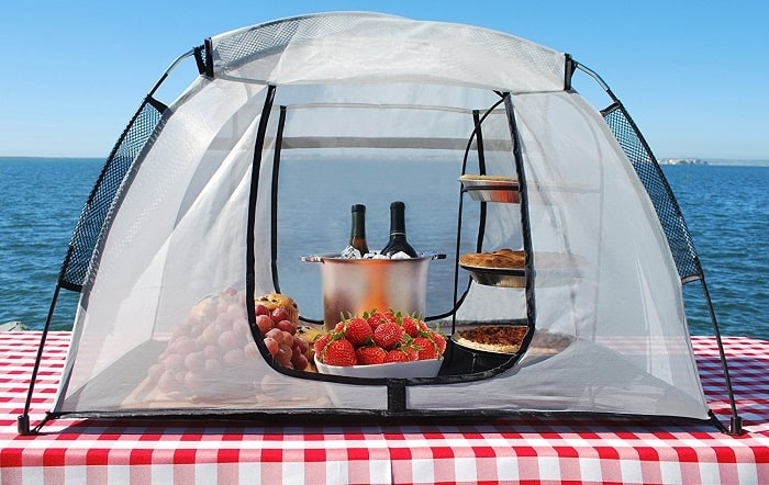 Picnic Food Covers Collapsible Mesh Domes Bamboo Silicon And More