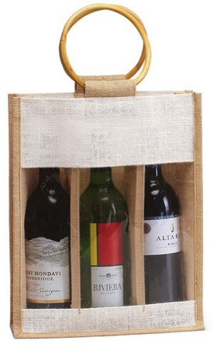 Jute Burlap Wine Bag
