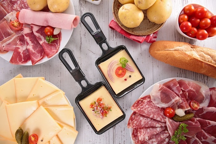 Raclette party food