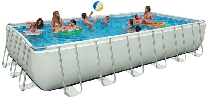 Best above ground pools oval rectangle pumps for Cheap above ground swimming pools