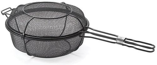Mesh Grill Basket with handles and lid