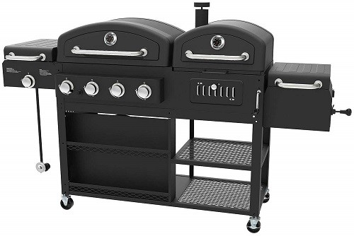 Smoke Hollow gas and charcoal smoker combo grill