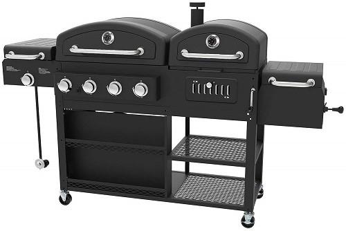 Smoke Hollow gas and charcoal smoker combo grill
