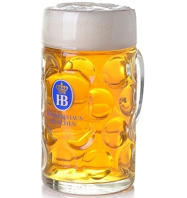 Dimpled Stein beer glass