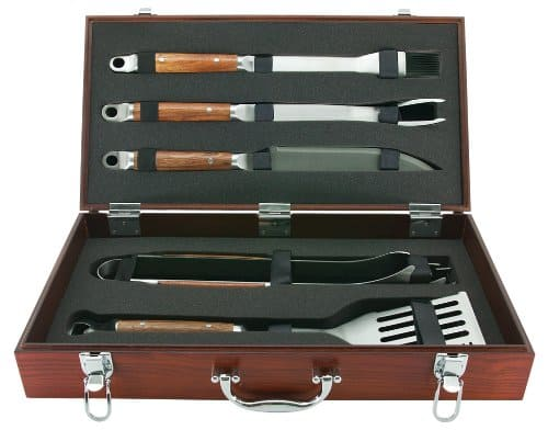 Forged stainless steel BBQ tool set