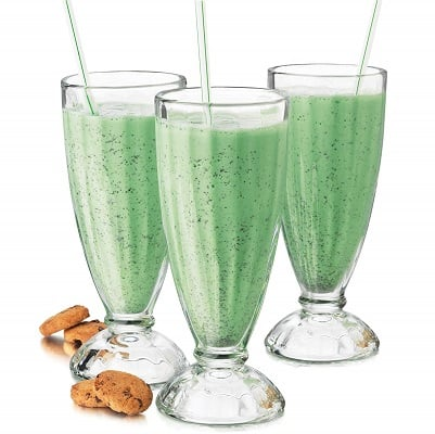Milkshake glasses for cocktails