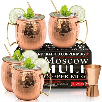 Moscow Mule Cocktail Copper Mugs