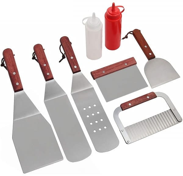 Professional griddle BBQ tool set