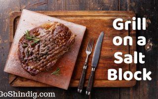 Grill on a salt block