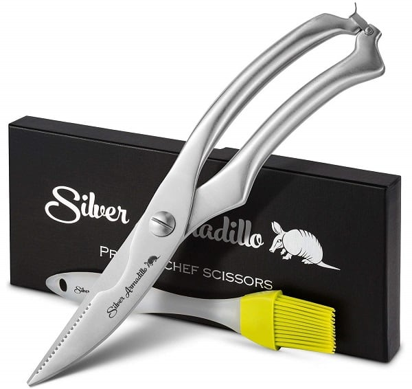 Silver Armadillo Kitchen Shears
