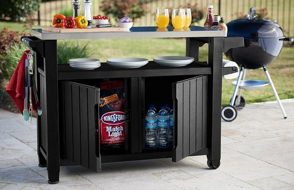 Keter Charcoal Storage Table