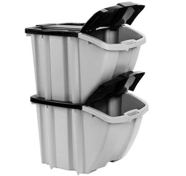 Staking Charcoal Container Bins