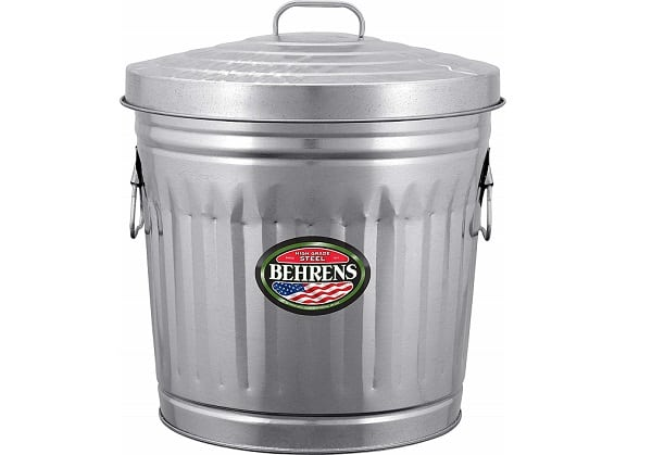 Trash Can Charcoal Container
