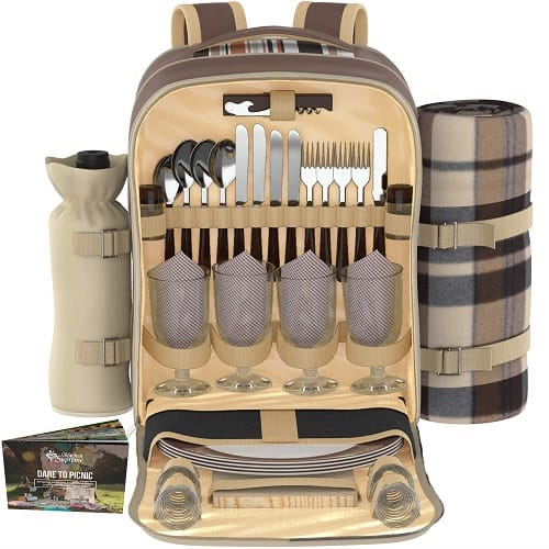 Kitchen Supreme Picnic Basket Backpack