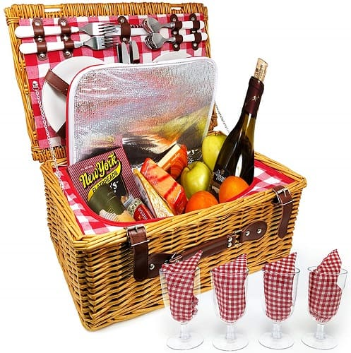 Nature Gear Insulated Picnic Basket for Four