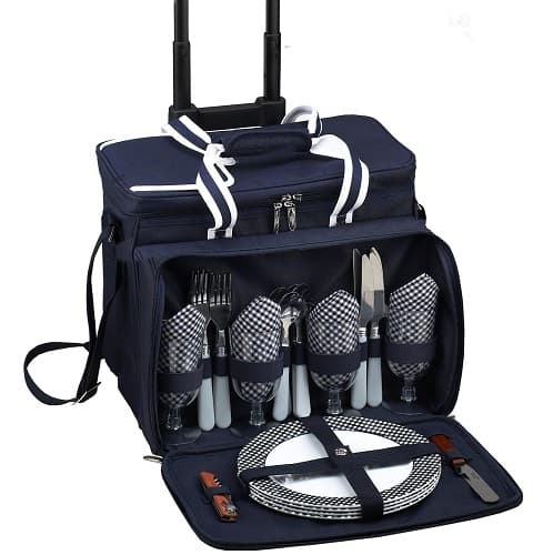Picnic at Ascot Wheeled Cooler Basket