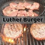 The Luther Burger - Glazed Donut Hamburger with Bacon & Cheese