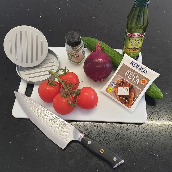 Greek Burger Salad Ingredients