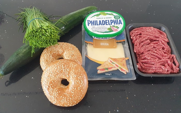 Bagel Burger Ingredients