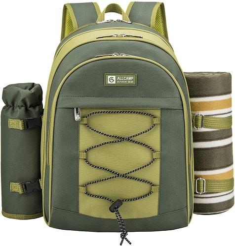 Allcamp Outdoor Picnic Backpack Hamper