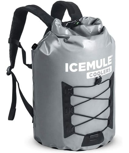 IceMule Large Collapsible Roll Top Cooler Backpack