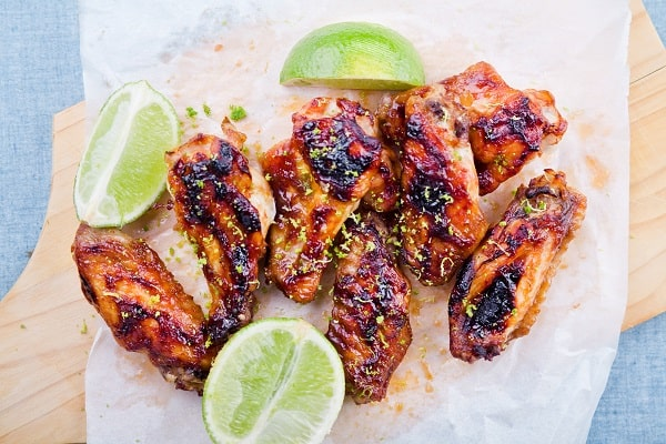 Barbecue Chicken Wings - Burger Sides