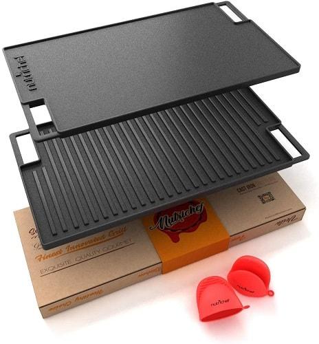 NutriChef BBQ Cast Iron Griddle