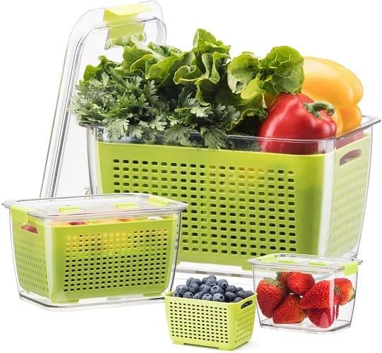 Luxear Lettuce Keeper Storage